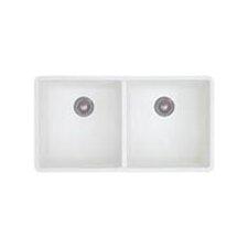 "Precis 29.75"" x 18.13"" Equal Double Bowl Kitchen Sink"