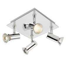 Square Shaped 4 Light Ceiling Spotlight