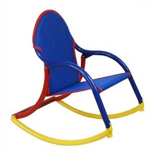 Personalized Kids Rocking Chair in Blue Mesh