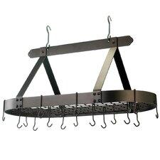 Oval Pot Rack with 16 Hooks