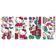 32 Piece World of Hello Kitty Wall Decal