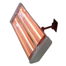 Double 1500 Watt Electric Mounted Patio Heater