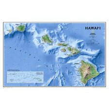 Hawaii State Wall Map
