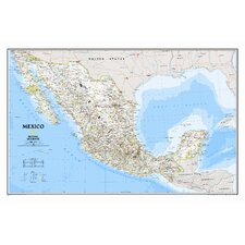 Mexico Classic Wall Map