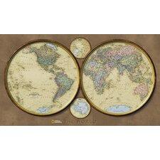 World Hemispheres Wall Map