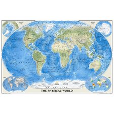 The Physical World Wall Map