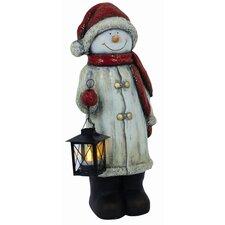 Snowman with Lantern