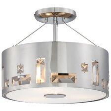 Bling Bang 3-Light Semi Flush Mount