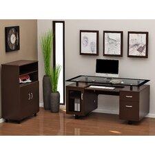 Ayden 2-Piece Standard Desk Office Suite