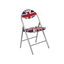 Cool Britannia Union Jack Folding Chair with Padded Back
