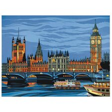 Paint By Numbers Large Houses of Parliament Painting