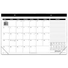 Monthly Compact Full Year Desk Pad