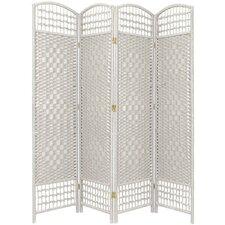 "67"" x 51"" Weave 4 Panel Room Divider"