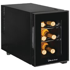 6 Bottle Single Zone Freestanding Wine Cooler