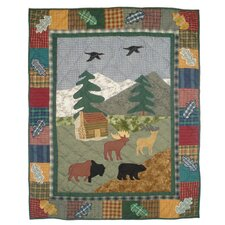 Northwoods Walk Cotton Crib Quilt