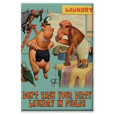 Don't Wash your Dirty Laundry in Public by Wilbur Pierce Vintage Advertisement on Wrapped Canvas
