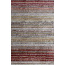 Cine Hand-Tufted Red/Brown Area Rug
