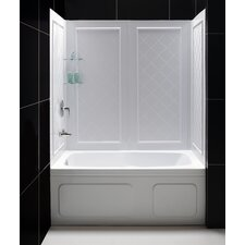 "Qwall 56"" x 28"" Tub Backwall Kit"