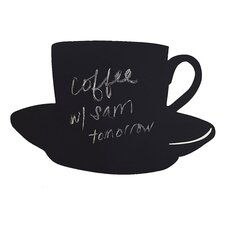 Cup and Saucer Chalkboard Wall Decal