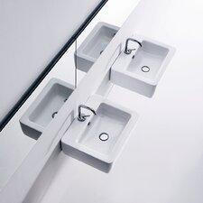 "Ego 19.7"" Wall mount Bathroom Sink with Overflow"