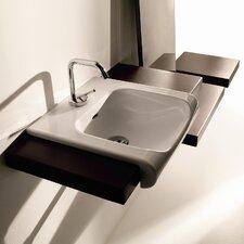 "Inka Ceramic 15.7"" Wall mount Bathroom Sink with Overflow"