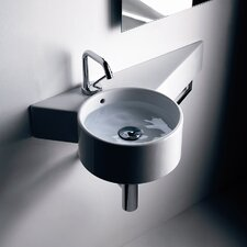 "Tao 11.8"" Wall mount Bathroom Sink with Overflow"