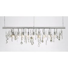 9-Light Crystal Chandelier