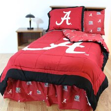NCAA Alabama Bed in a Bag - With White Sheets