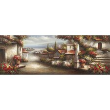 Revealed Artwork European Village 1 Painting on Wrapped Canvas