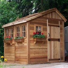Sunshed 8 ft. W x 8 ft. D Wood Storage Shed