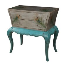 Brittney Peacock Feather 2 Drawer Chest