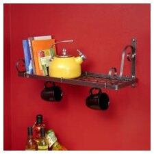 USA Handcrafted Decor Bookshelf Wall Mounted Pot Rack