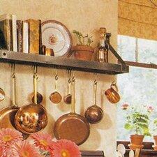 USA Handcrafted Gourmet Bookshelf Wall Mounted Pot Rack