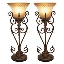 "Lisette Torchiere 30"" Table Lamp Set (Set of 2)"