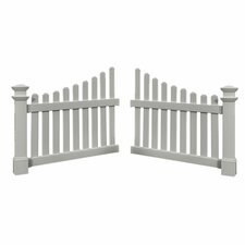 3.5' x 4' Cottage Picket Wings (Set of 2)