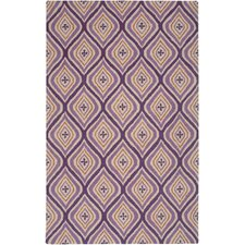 Country Hand-Tufted Wool Plum Area Rug