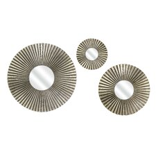 3 Piece Piper Round Mirror Set