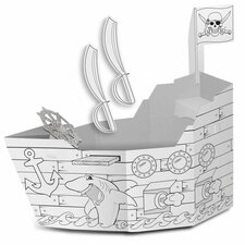 Pirate Ship with Washable Markers Playhouse
