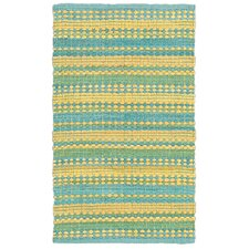 Dhurry Hand-Tufted Cotton Blue & Yellow Area Rug