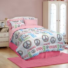 Peace and Love 3 Piece Comforter Set