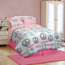 Peace and Love 3 Piece Comforter Set