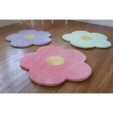 3 Piece Daisy Flower Kids Indoor/Outdoor Area Rug Set
