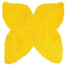 Senses Shag Butterfly Yellow Area Rug