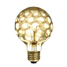 Crystal 40W Amber Marble Incandescent Light Bulb (Set of 5)