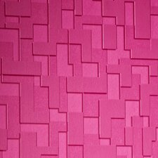 "Odyssey Checker 33' x 20"" Geometric 3D Embossed Wallpaper Roll"