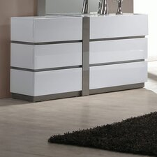 Manila 6 Drawer Double Dresser