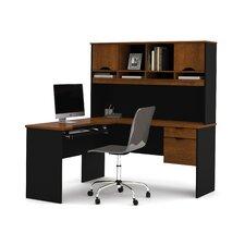 Innova L-Shape Executive Desk with Hutch