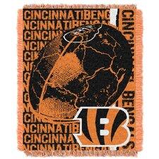 NFL Cincinnati Bengals Triple Woven Jacquard Throw Blanket
