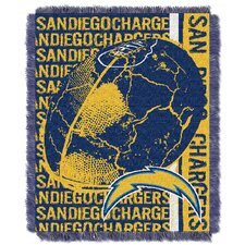NFL San Diego Chargers Triple Woven Jacquard Throw Blanket