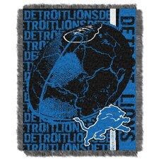 NFL Detroit Lions Triple Woven Jacquard Throw Blanket